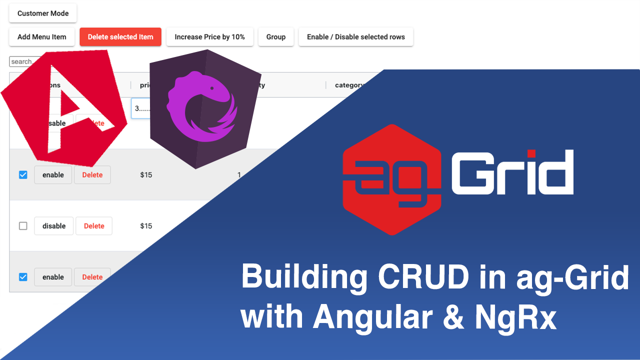 How to Build CRUD in ag-Grid with Angular and NgRx