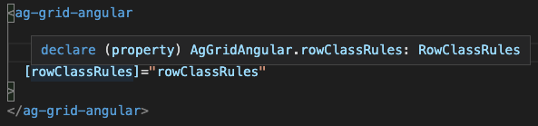 ag-grid-component type hint