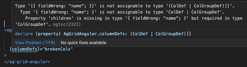 Wrong Typing Error