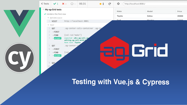 Testing with ag-Grid | Vue.js & Cypress