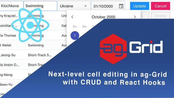 Next-level cell editing in ag-Grid with CRUD and React Hooks