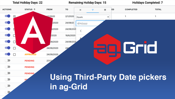 Using Third-Party Date pickers in ag-Grid