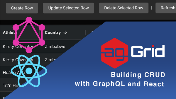 Building CRUD in ag-Grid with GraphQL & React