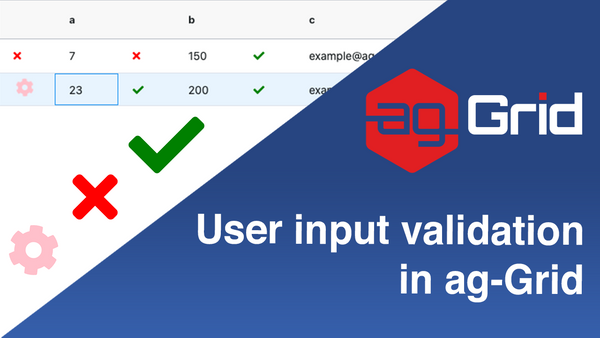 User input validation in Ag-Grid