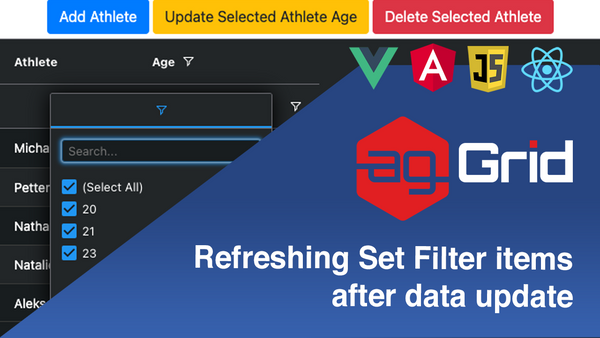 Refreshing Set Filter items after data update when using Server-side data in ag-Grid