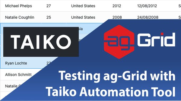 Testing ag-Grid with Taiko Automation Tool