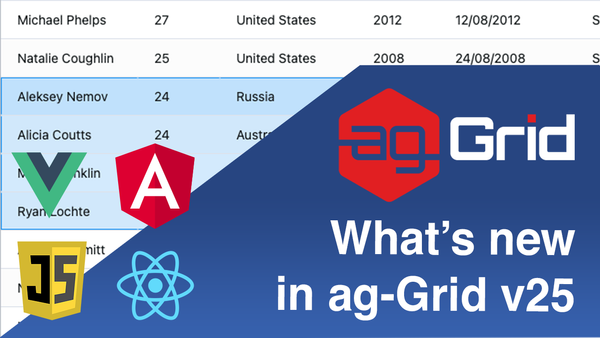 What's new in Ag-Grid v25