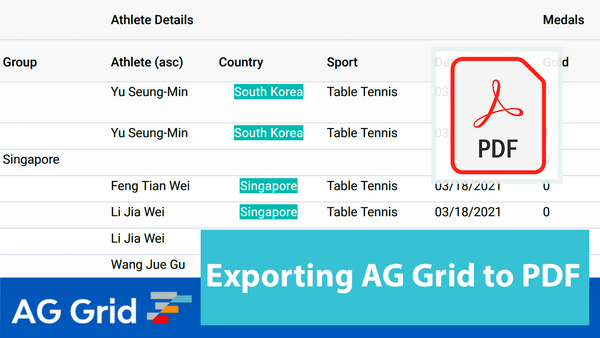 Exporting AG Grid to PDF with pdfMake
